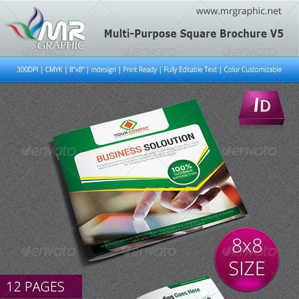 Multipurpose Square Brochure Template Vol-05