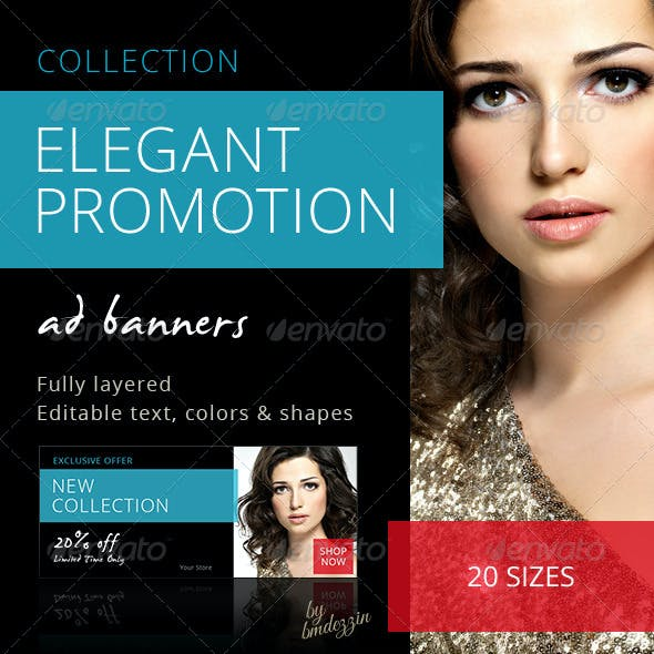 Elegant Promotion Web Ad Banners