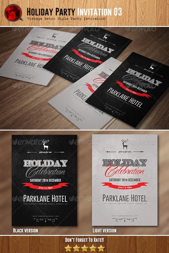 Holiday Celebration Invitation 03 - Invitations Cards & Invites