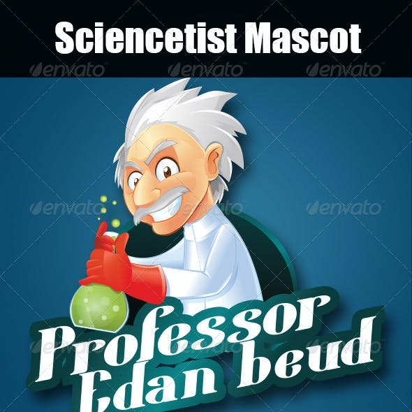 Scientist and Professor Mascot