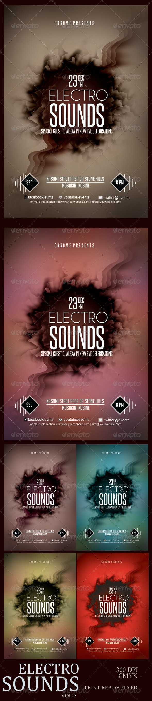 Electro Sounds Futuristic Flyer 5 - Clubs & Parties Events