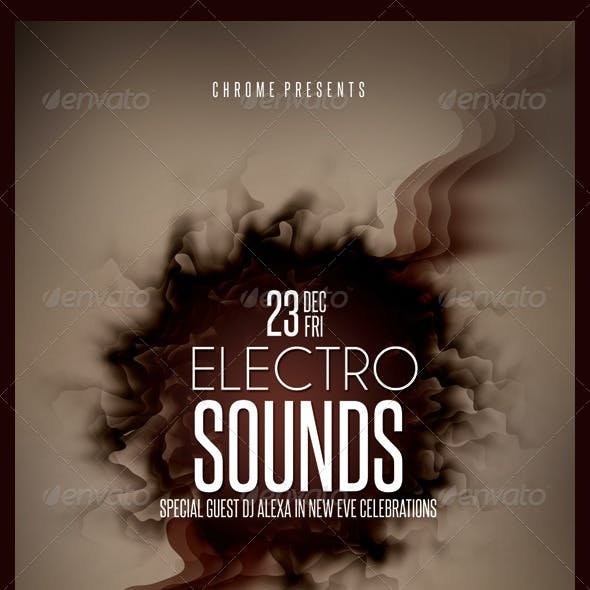 Electro Sounds Futuristic Flyer 5