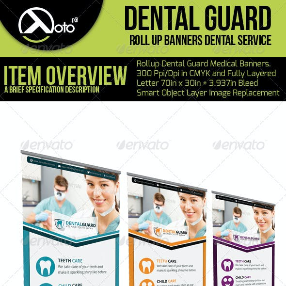 Dental Guard Medical Roll Up Banners