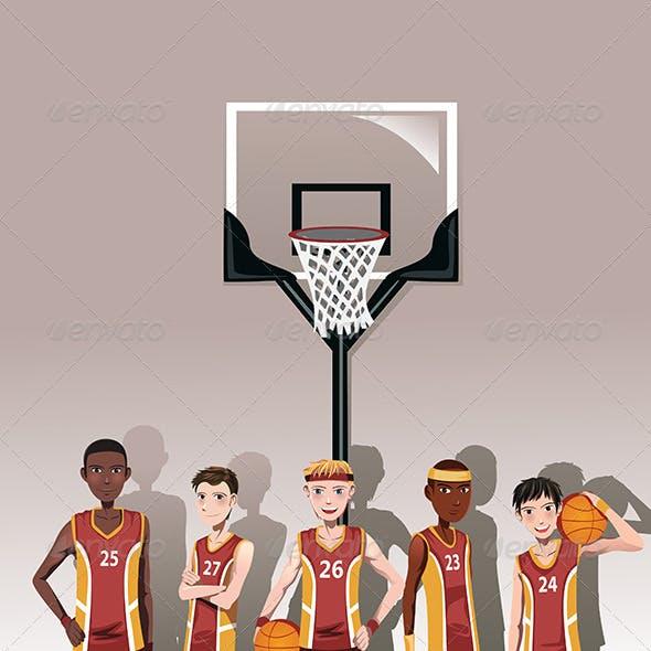 Basketball Team Players