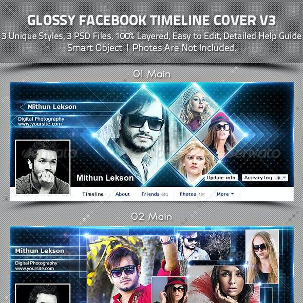 Glossy Facebook Timeline Cover V3