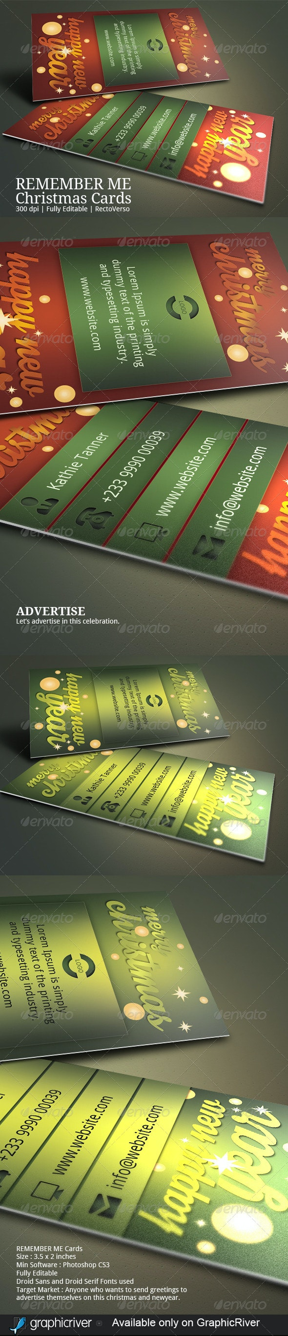 Christmas Greeting Business Card - Greeting Cards Cards & Invites