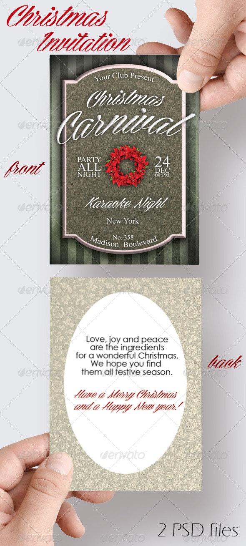 Christmas Carnival Invitation - Invitations Cards & Invites