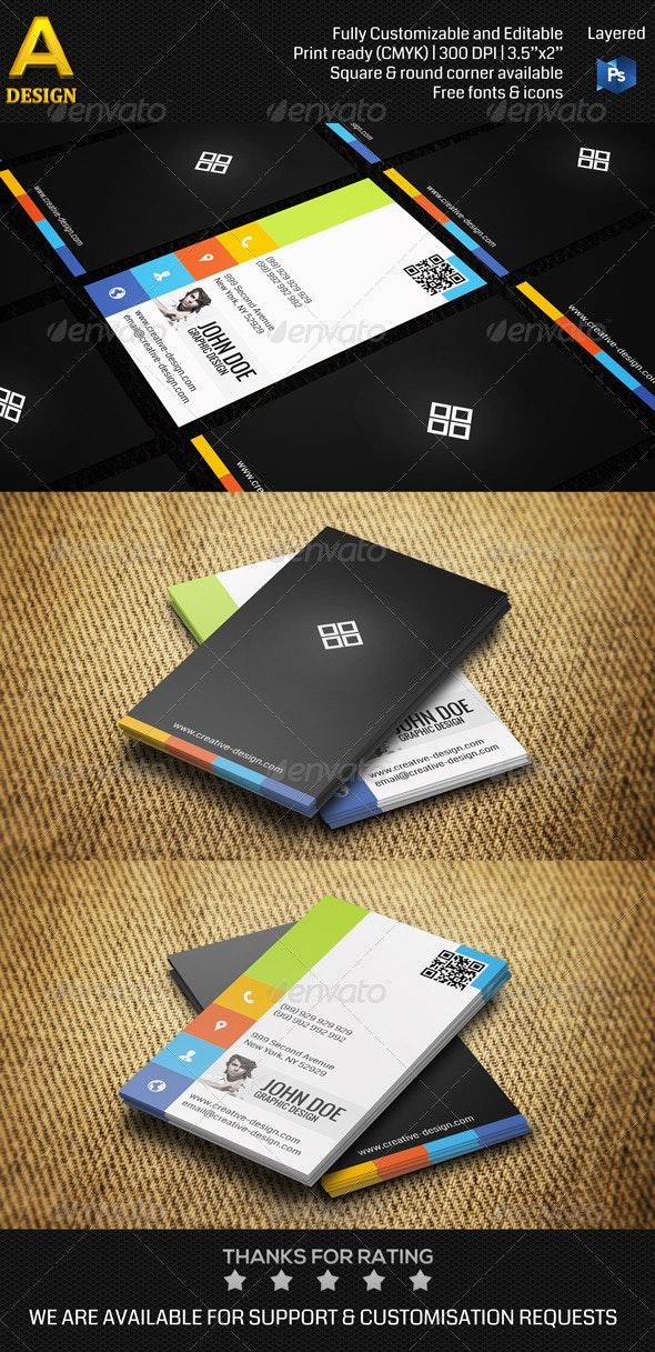 Creative Design Studio Business Card AN0086 - Creative Business Cards
