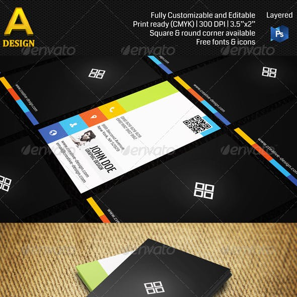 Creative Design Studio Business Card AN0086