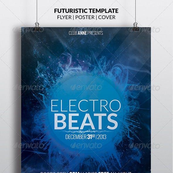 Blue Futuristic Flyer + Facebook Timeline