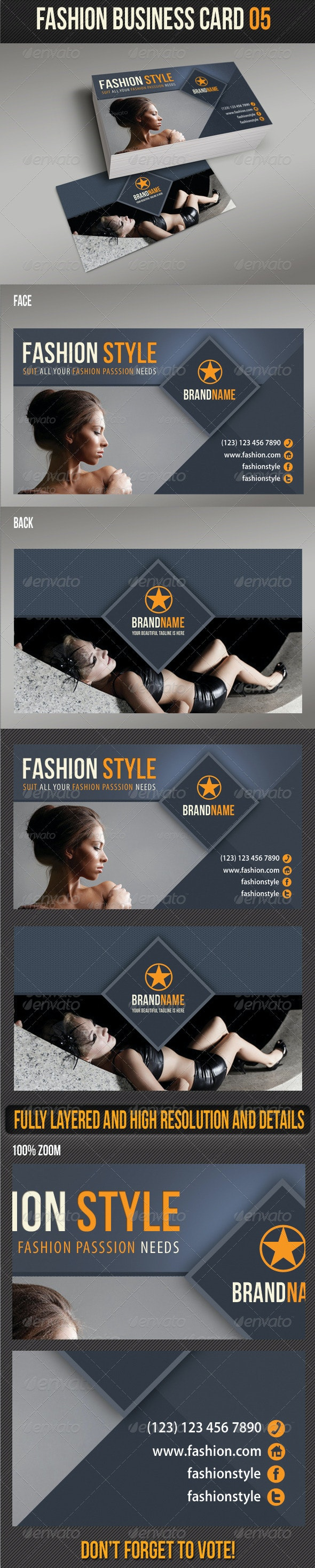 Fashion Business Card 05 - Creative Business Cards