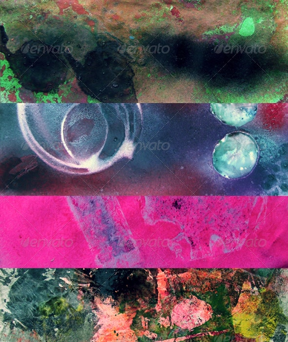 Colorful Spray Textures - Abstract Textures
