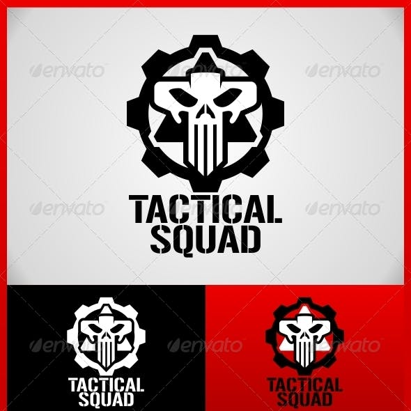 Tactical Squad Skull Logo Template
