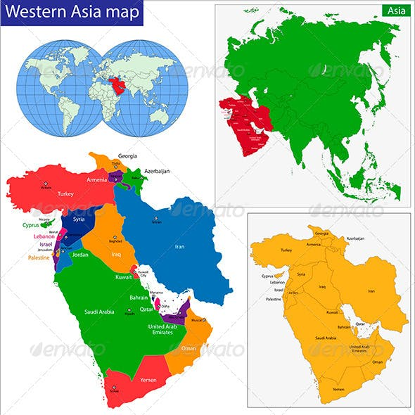 Western Asia Map