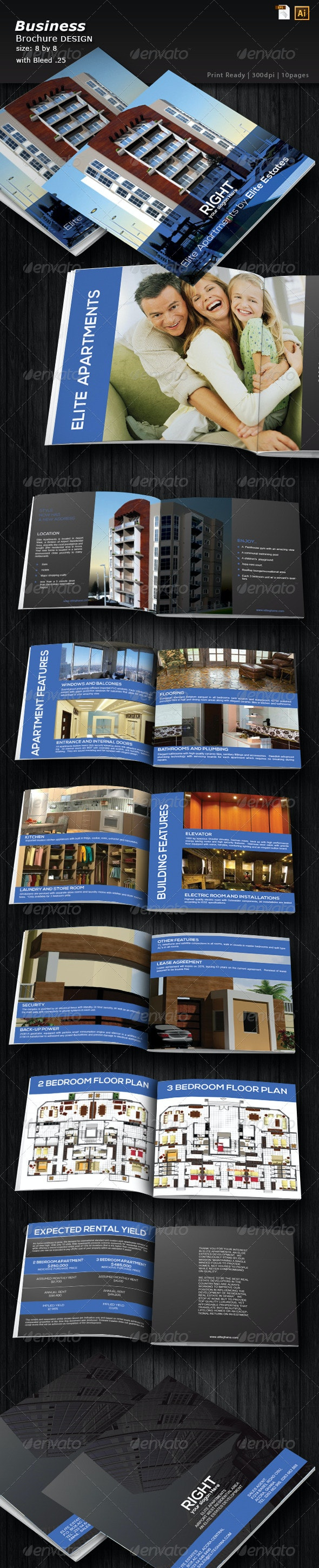 Architecture Portfolio Brochure - Brochures Print Templates