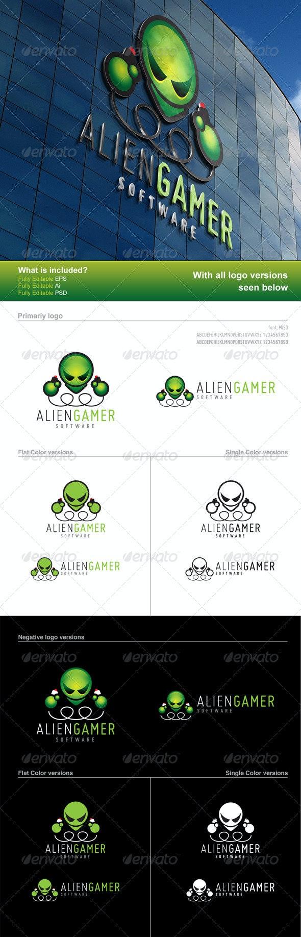 Alien Gamer Logo - Logo Templates