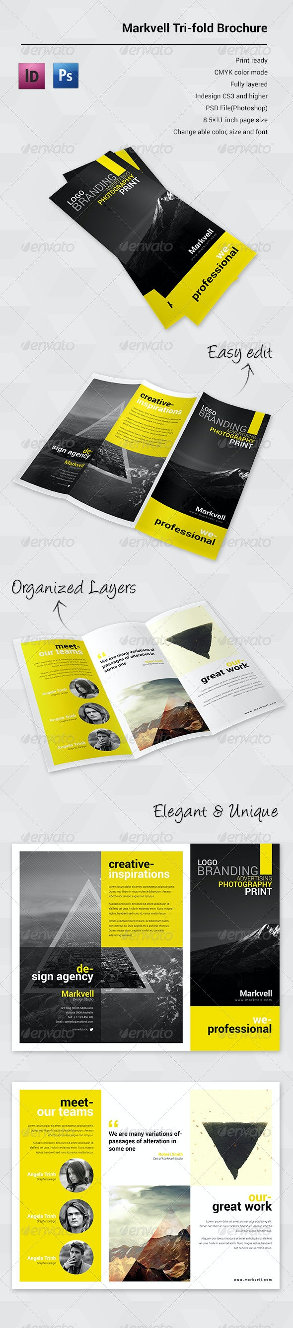 Marvell Sudio - Trifold Brochure - Portfolio Brochures