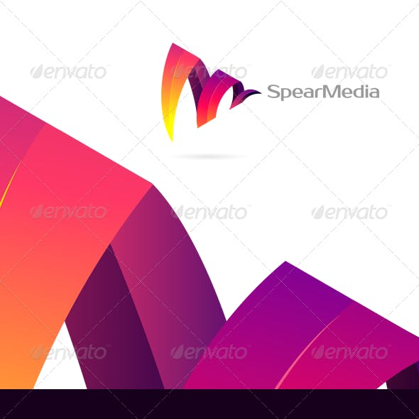 Spear Media - Colorful Corporate & Creative Logo