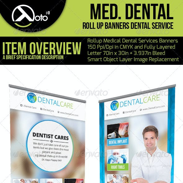 Medical Dental Service Roll Up Banners