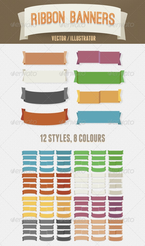 Vintage Vector Ribbon Banners - Miscellaneous Vectors