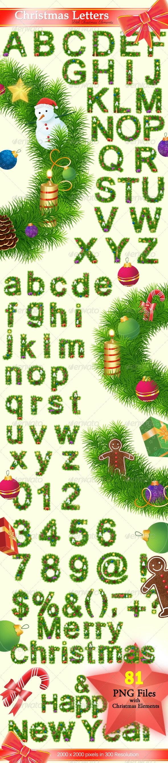 Christmas Letters  - Decorative Symbols Decorative