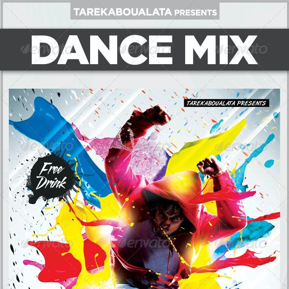 Dance Mix Flyer
