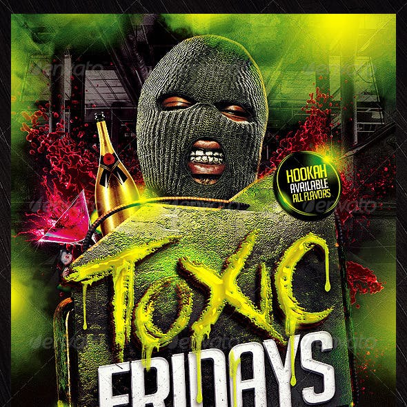 Toxic Hip Hop Flyer Template