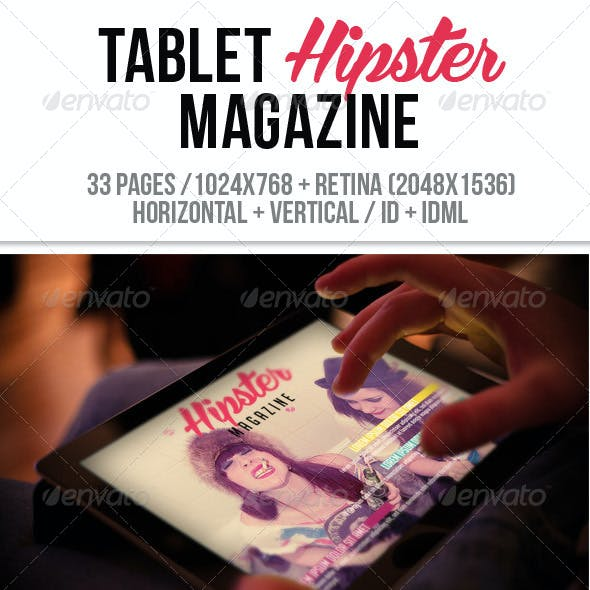 iPad & Tablet Hipster Magazine