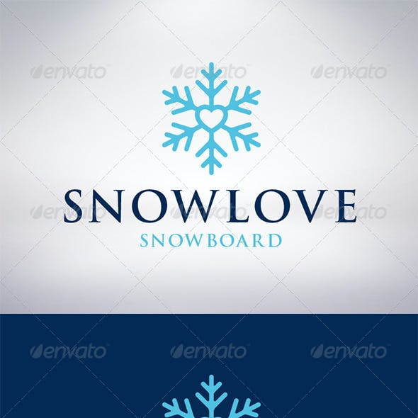 Snow Love Logo Template