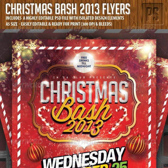 Christmas Party Bash Flyer 2013