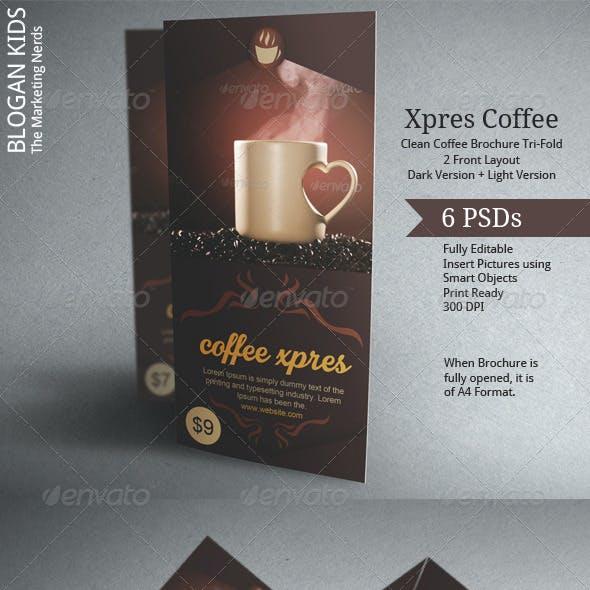 Coffee Brochure Template Tri-Fold