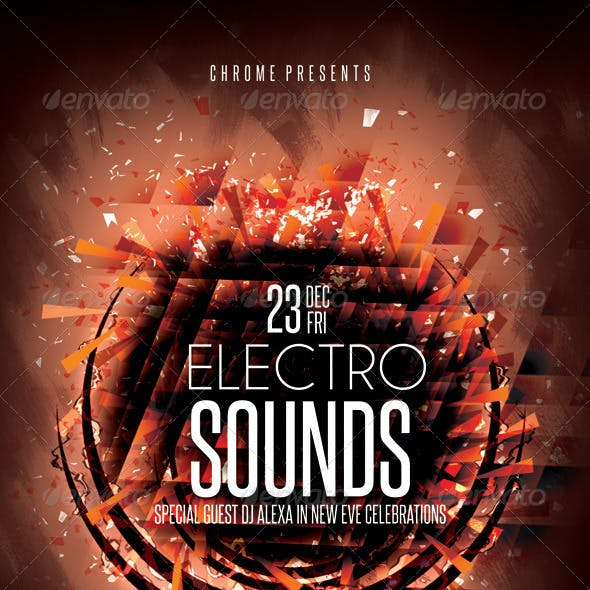 Electro Sounds Futuristic Flyer 6