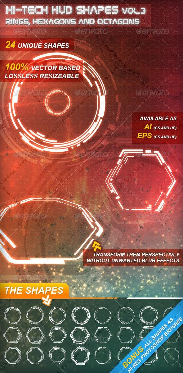 Hi-Tech HUD Shapes Vol.3 - Technology Conceptual