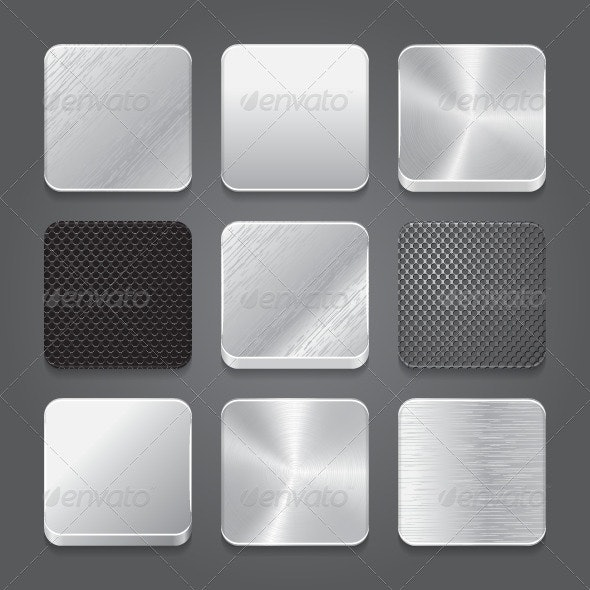 Set Metal App Icons - Software Icons