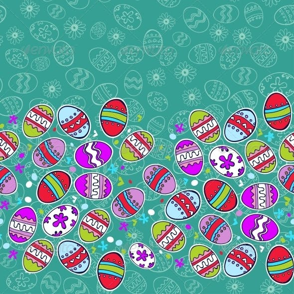 Bright Background with Easter Egg