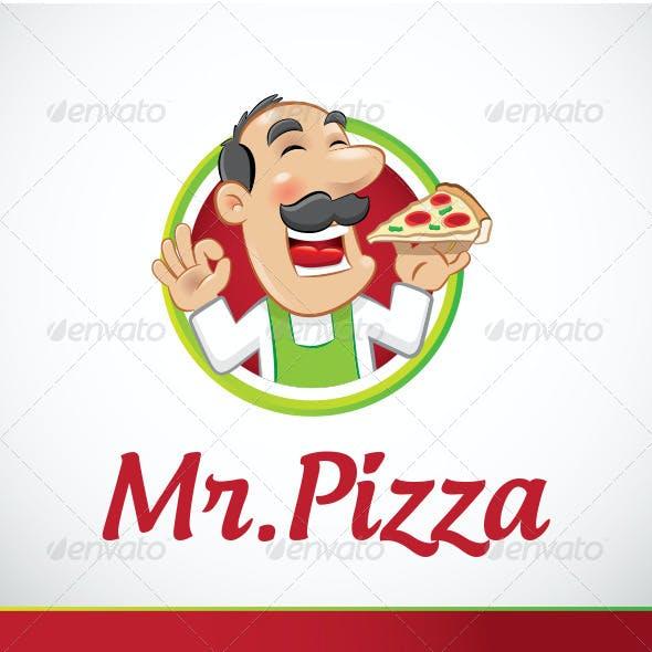 Mr Pizza Logo Template