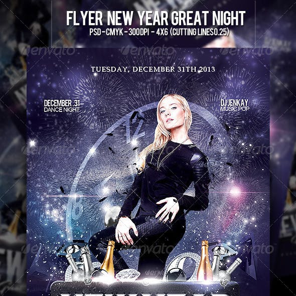 Flyer New Year Great Night