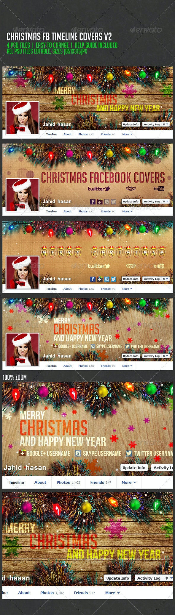 Christmas Facebook Timeline Covers V2 - Facebook Timeline Covers Social Media