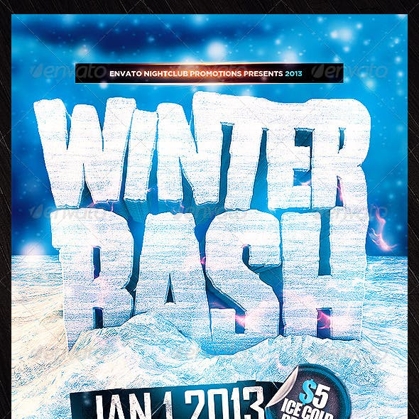 Winter Bash PSD Flyer