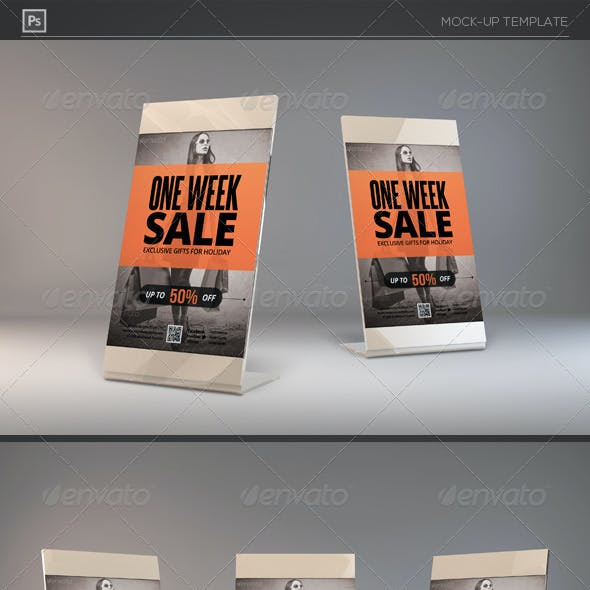 Photorealistic Counter Top Slide Frame Mock-Ups