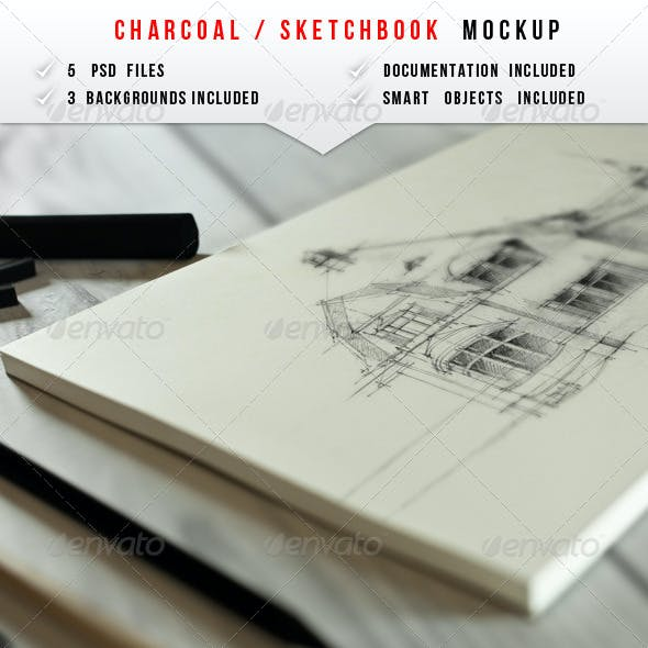 Sketch & Charcoal Mockup