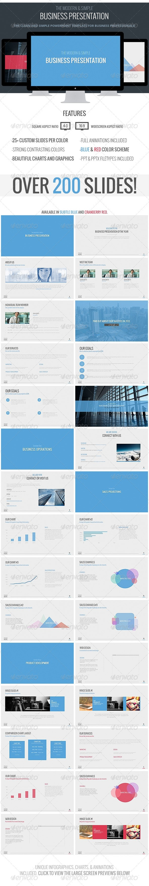 Modern Business Powerpoint Template - Business PowerPoint Templates