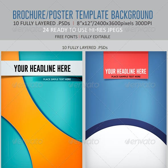 Brochure/Poster Template Backgrounds