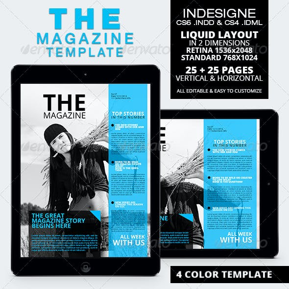 The Magazine Tablet Template