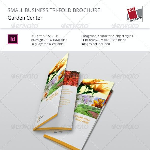 Small Business Tri-Fold Brochure - Garden Center