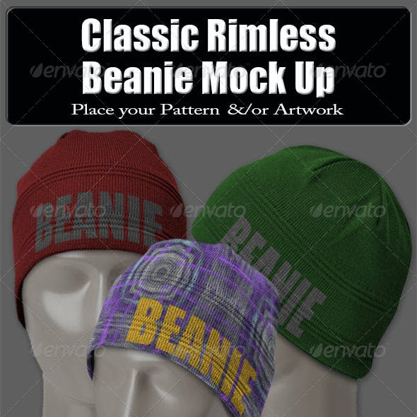 Classic Rimless Beanie Mock Up