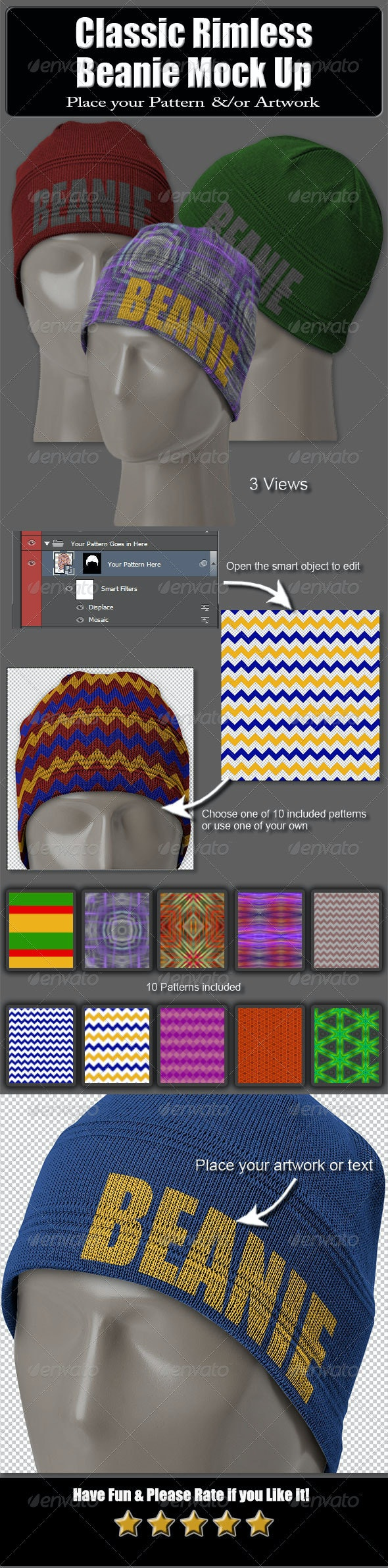 Classic Rimless Beanie Mock Up - Miscellaneous Apparel