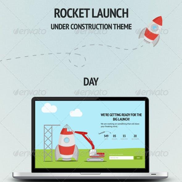 Rocket Launch - Under Construction Theme