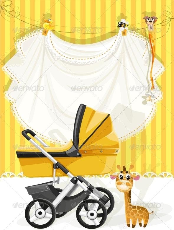 Baby Shower Yellow Card - Birthdays Seasons/Holidays