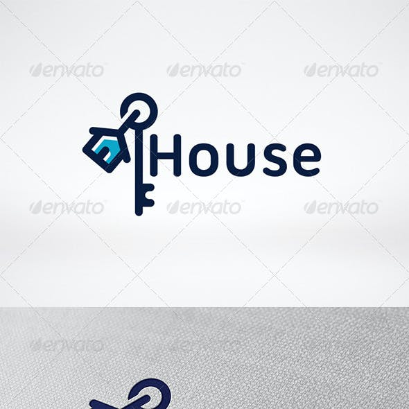 House Key Logo Template